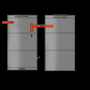 2-х камерный септик по схеме 3+3
