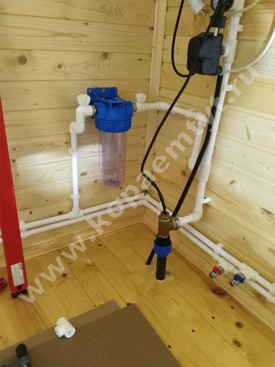 водопровод на даче под ключ